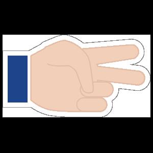 Hands Scissors LH Emoji Sticker