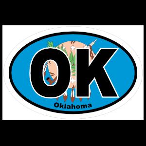 Oklahoma Ok State Flag Oval Sticker