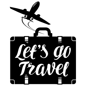 Lets Go Travel Suitcase Sticker