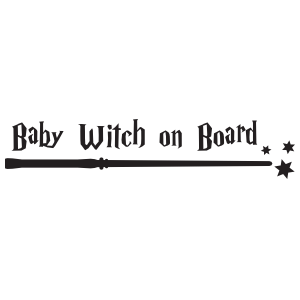 Baby Witch on Board Sticker