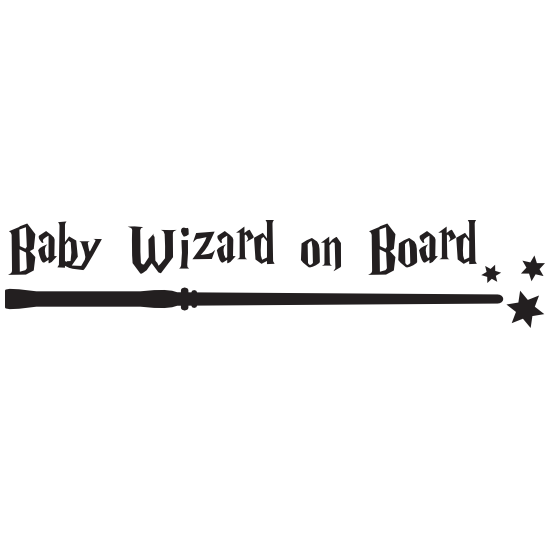 Baby Wizard on Board Sticker