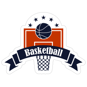 Backboard and Hoop Basketball Sticker