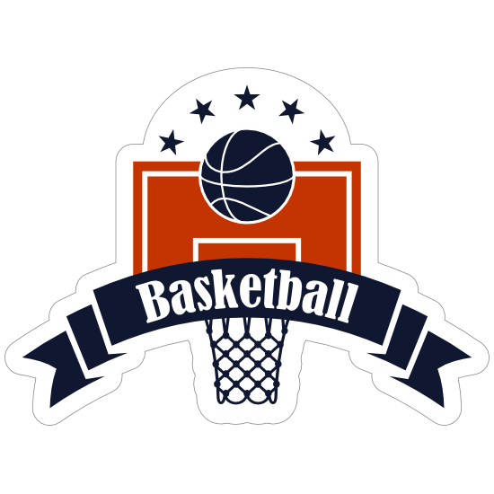 Backboard and Hoop Basketball Sticker