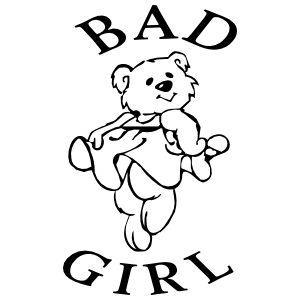 Bad Girl With Teddy Bear Sticker
