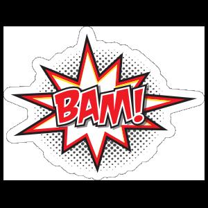 Bam Comic Sticker