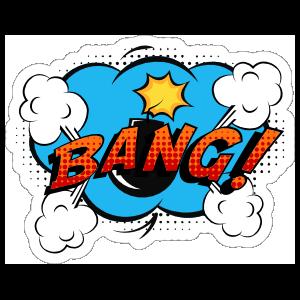 Bang Comic Sticker