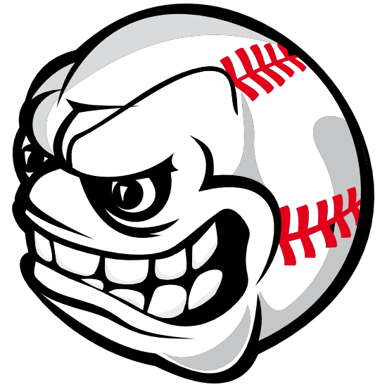 Baseball With Angry Face Magnet