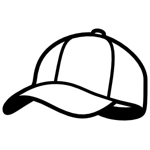 Baseball Hat or Softball Cap Sticker