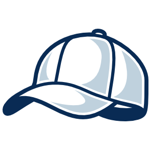 Baseball Hat or Softball Cap with Shading Sticker