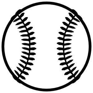 Baseball or Softball Fastball Sticker