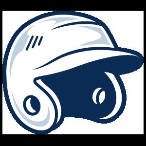 Baseball or Softball Helmet with Shading Sticker