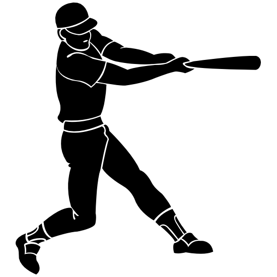 Baseball Player Swinging His Bat Sticker