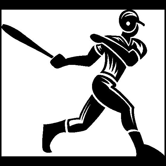 Detailed Baseball Player Sticker