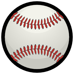 Baseball with Red Seams Magnet