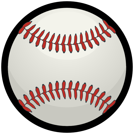 Baseball with Red Seams Sticker