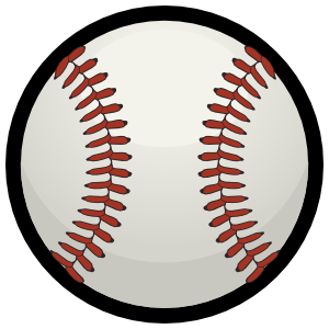Baseball with Red Seams Down Magnet
