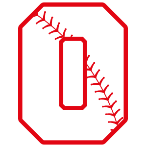 Baseball Style Number 0 With Seam Sticker