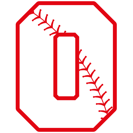 Baseball Style Number 0 With Seam Magnet