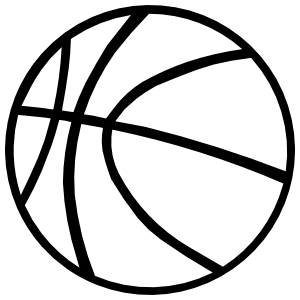 Basketball Outline Sticker