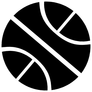 Basketball Cut Out Sticker