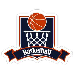 Basketball Badge Sticker