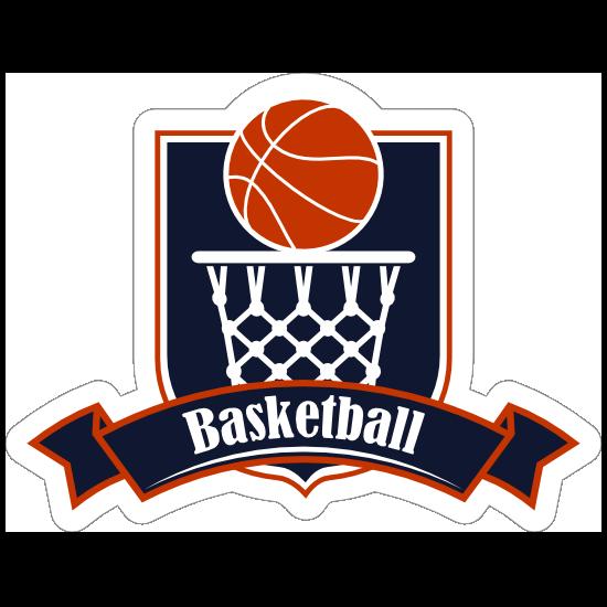 Basketball Badge Sticker