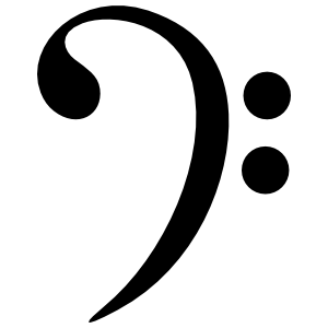 Bass Clef Music Sticker