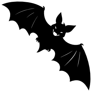 Bat With An Evil Smile Sticker