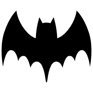 Bat Sticker With Pointed Wings And Tail Sticker