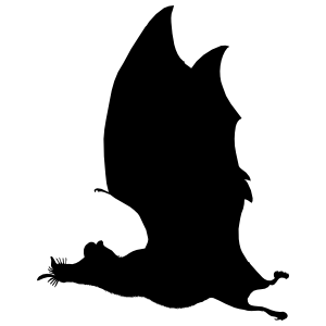 Bat Flying To The Right Sticker