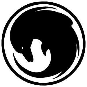 Dolphin Swirl In A Circle Sticker