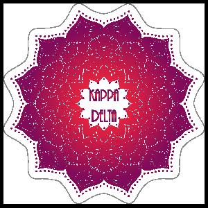 Purple and Red kappa Delta Mandala Sticker