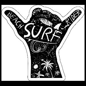 Beach Riders Surfing Sticker