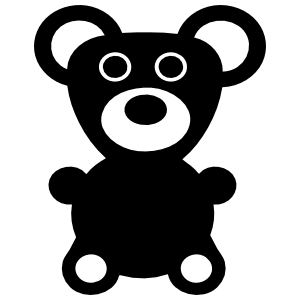 Tiny Teddy Bear Sticker