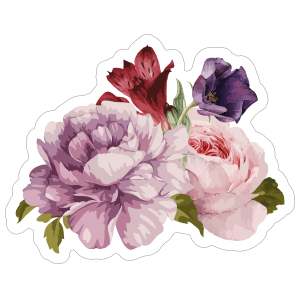 Beautiful Bouquet of Roses Flower Stickers