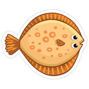 Beautiful Bottom Dwelling Fish Sticker
