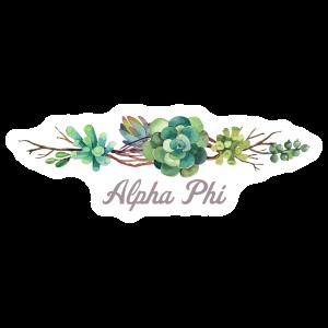 Beautiful Succulent Border Alpha Phi Sticker