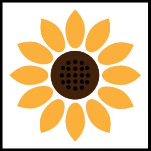Beautiful Sunflower Sticker