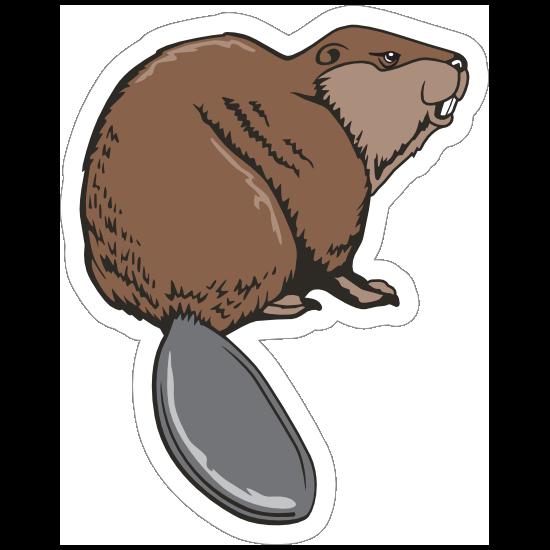 Beaver Mascot Sticker