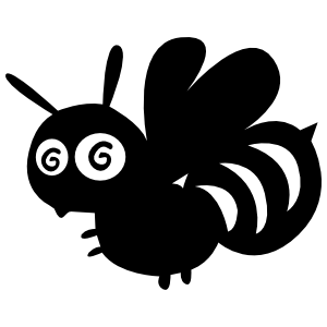 Silly Bee Sticker