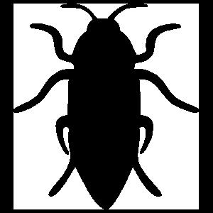 Beetle Silhouette Sticker