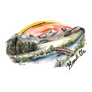 Bend OR Painted Skyline Sticker