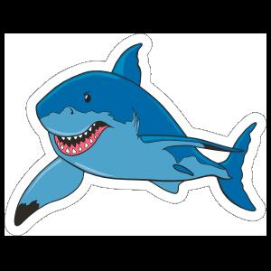 Big Blue Shark Mascot Sticker