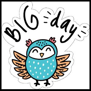 Big Days Camping Sticker