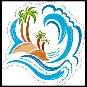 Big Wave Beach Sticker