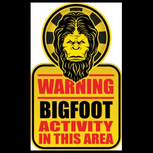 Bigfoot Activity Sign Sticker