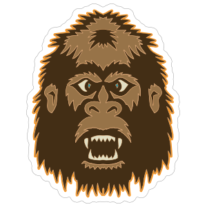 Bigfoot Face Sticker