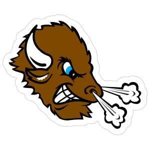 Bison Head Mascot Sticker