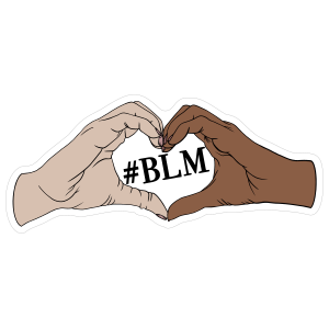 Black Lives Matter Heart Hands Sticker