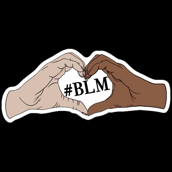 Black Lives Matter Heart Hands Sticker